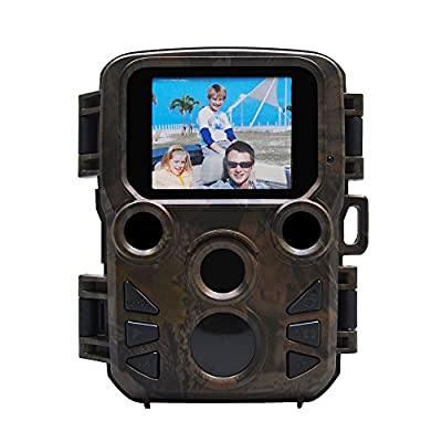 Trail Camera 1080P with Motion Activated Night Vision IP66 Waterproof 0.4s Trigger Speed 70°Detecting Range Wildlife Farm Security Home Security Cam