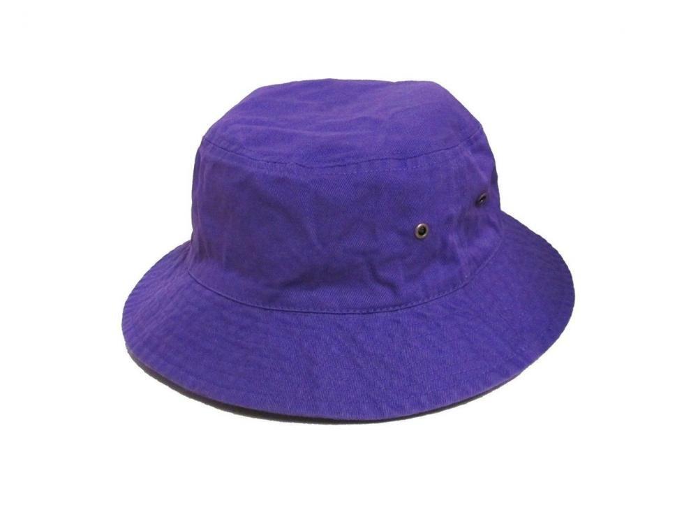 Easy-W Purple 100% Cotton Hat Cap Bucket Boonie Unisex