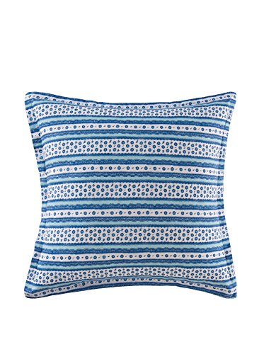 - C&F Home Hampstead Toile, Blue/White, Euro Sham