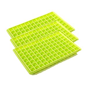Riverbyland Green Ice Cube Trays 96 cubes Set of 3