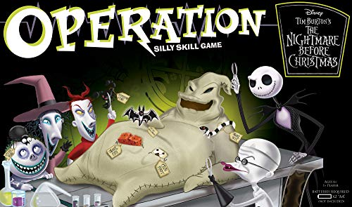 Operation Nightmare Before Christmas Board Game | Themed Operation Game Where Players Operate on Oogie Boogie | Operation Game Based on Tim Burton's The Nightmare Before -