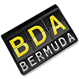 RFID Passport Holder BDA Airport Code for Bermuda, Cover Case / Wallet - Neonbl