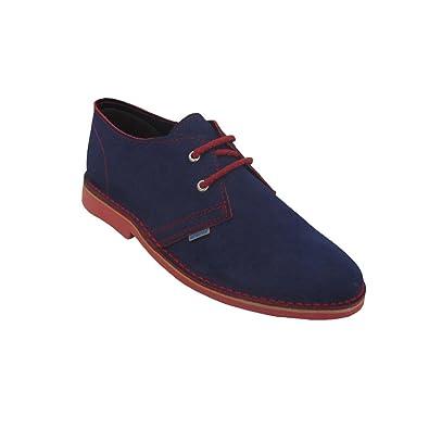 K901PC - Zapato safari combinado azul marino - rojo (38) FTRRFQ