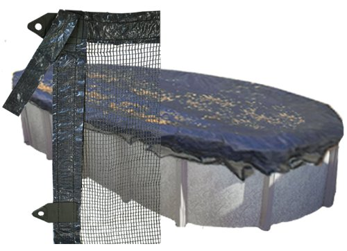 18'x40' Oval Above Ground Pool Tux Leaf Guard