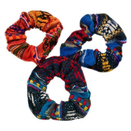 12 Scrunchies Hair Tie Twelve Pack Assorted Peru Cotton Fair Trade Lot Wholesale *000255* ()