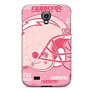 Protective Cell-phone Hard Cover For Samsung Galaxy S4 (YRl10241FBgT) Provide Private Custom Vivid San Diego Chargers Pattern
