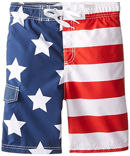 Suit Boys Bathing - Kanu Surf Big Boys' American Flag Swim Trunk, Medium (10/12)