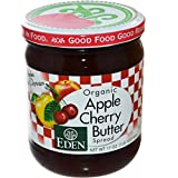 Eden Foods, Organic, Apple Cherry Butter Spread, 17 oz (482 g) - 3PC