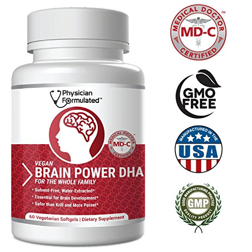1000mg DHAx Vegan DHA, Prenatal DHA, MD-Certified with 3X More DHA Than Krill Oil! Vegetarian Algae Based Omega Essential Fatty Acids, Omega 3, 2500mcg Astaxanthin - Physician Formulated (Best Dha Supplement For Pregnancy)