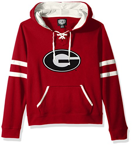 - NCAA Georgia Bulldogs Women's Ots Grant Lace Up Pullover Hood, Small, Red