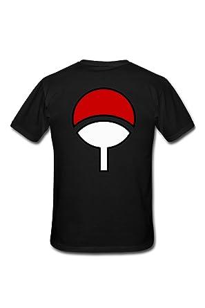 Shirt Uchiwa T Noir Clan Naruto n0P8wOk