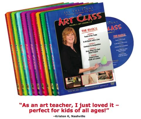 See The Light ART CLASS (Volumes 1-9; 36 lessons)