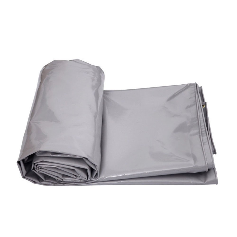 Silver 56m HUO Tent Tarps MultiPurpose Tarpaulin Canvas DoubleSided Waterproof UVResistant Linoleum for Ground Sheet Cover