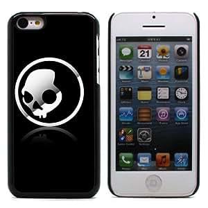 MOBILEONE Apple iPhone 5C Carcasa Trasera Rigida Aluminio Con 3x Protectores de Pantalla y Lapiz Boligrafo - Skull
