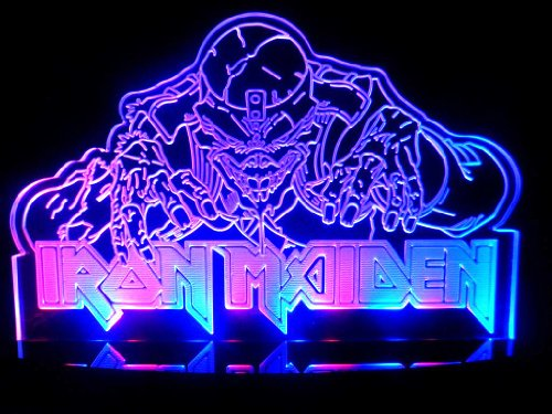 Eddie the Head Iron Maiden LED Desk Lamp Night Light Beer Bar Bedroom Signs