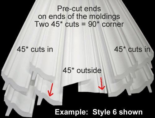 by Austin Crown Molding Available in 5 Other Styles and Quantities-See Our Other LISTINGS 128 Ft of 3.5 Bennett Foam Crown Molding Room kit W//precut Corners on end of Lengths 4 Inside /& 1 Out