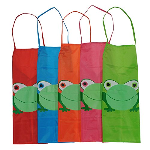 [dipshop Kids Cartoon Frog Printed Waterproof Apron Costume Painting ( Red )] (Aerobics Costume Designs)