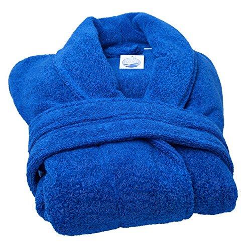 Home CASSIOPEE peip500-roy Bademantel Schalkragen microcoton blau royal 113x 52cm 500g/m2–Größe M