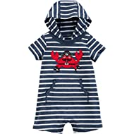 Baby Boys' Hooded Fleece Jumpsuit