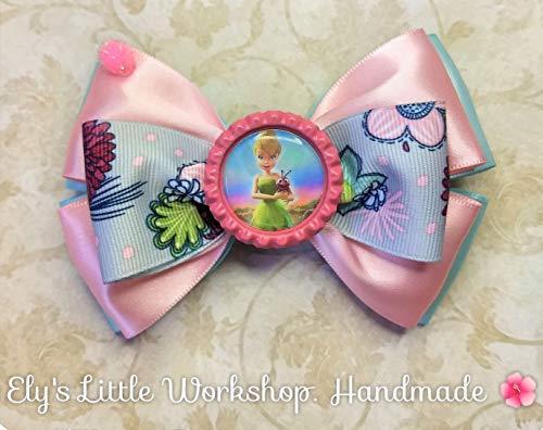 TinkerBell, Disney inspired Hair Bow, 100% HandMade, Girls, Unique. ()