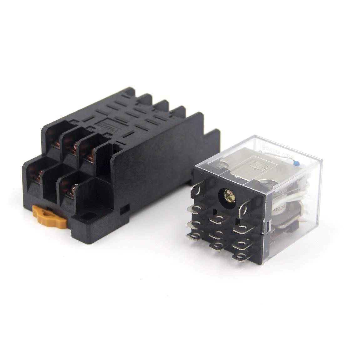Woljay HH63P AC 380V Spule 3PDT 11 Pin Gereral Zweck Relais Kontrollleuchte Elektromagnetisches Leistungsrelais mit Sockel