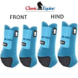 MEDIUM CLASSIC EQUINE LEGACY2 HORSE FRONT HIND SPORTS BOOTS 4 PACK TEAL