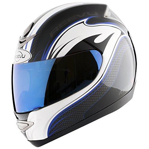 - Reevu MSX1 Rear-View Motorcycle Helmet - Graphic Blue (M)