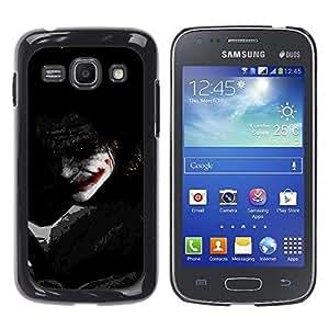 CASECO - Samsung Galaxy Ace 3 - Joker Shadow - Delgado Negro Plástico caso cubierta Shell Armor Funda Case Cover - Joker Sombra