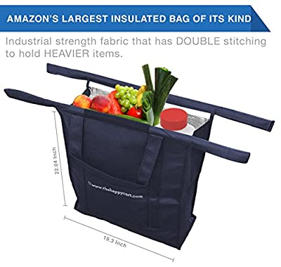 Grocery Bags ~ Grab Your Shopping Cart Bag 4 in 1 Foldable Organiser Tote Sets