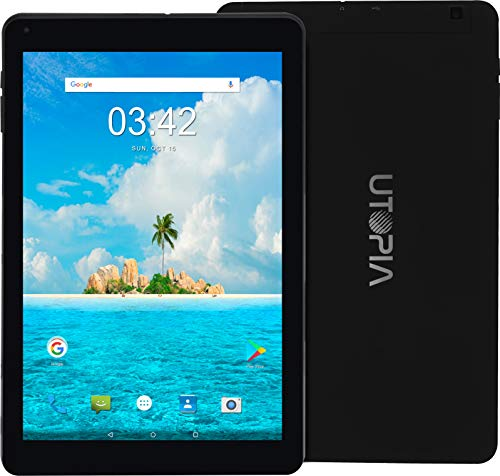 2 Mp Camera Bluetooth - Utopia Home 10.1-Inch Android 7.0 Tablet - 2GB RAM - 5MP AF Rear & 2MP FF Front Camera - 1.3GHz Quad-Core Processor - 3G (WCDMA 850/1900/2100MHz), Wi-Fi, Bluetooth - 16GB Storage - Leather Case