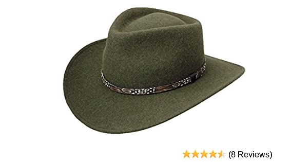Amazon.com  Stetson Expedition Crushable Wool Felt Hat  Clothing e6eda143102