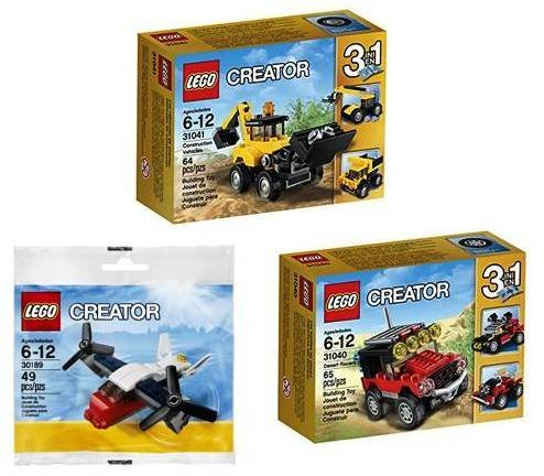 LEGO Creator 3 Set Bundle: Construction