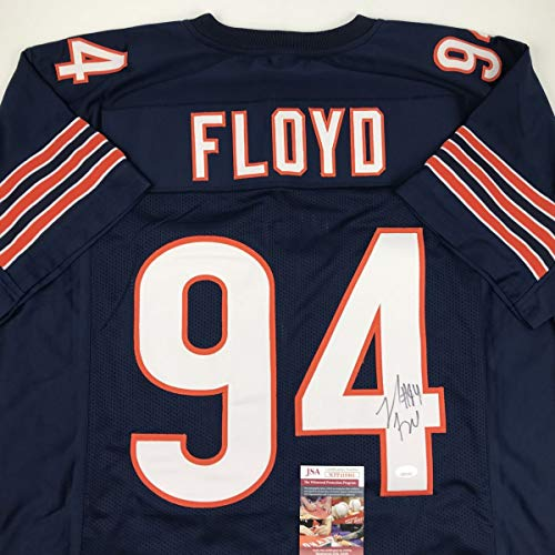 Autographed/Signed Leonard Floyd Chicago Blue Football Jersey JSA COA