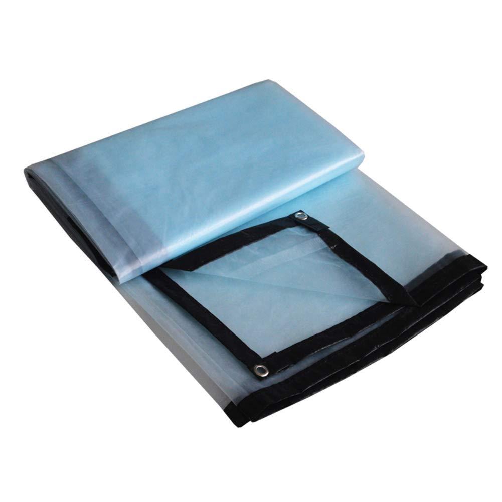 JINSH Zelt im Freien Verdicktes PE-Regenschutz Wasserdichte Sonnencreme Plane transparente Tuch Balkon Sonnencreme Isolierung Anti-Aging (Farbe   Blau, Größe   6x6M)
