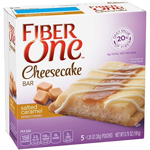 Fiber One Cheesecake Bar, Salted Caramel, 5 Count (Pack of (Fibre Bar)