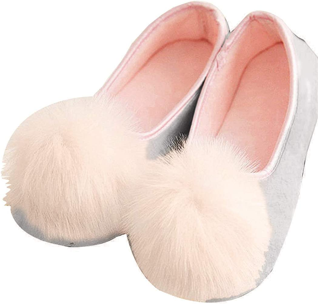 Amiley Women's Casual Cute Pom Pom Slip