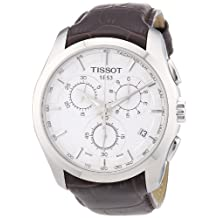 Tissot Men's T0356171603100 Couturier Silver Chronograph Dial Watch