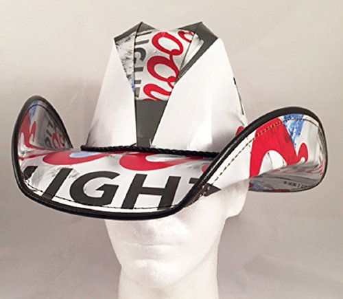 Beer Box Cowboy Hat Made from recycled Coors Light - Box Hat Beer Cowboy