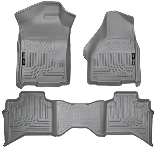 Husky Liners Front & 2nd Seat Floor Liners Fits 09-18 Ram 1500 Quad Cab
