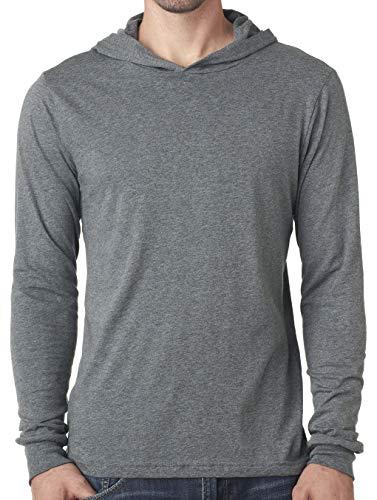 Yoga Clothing For You Mens Lightweight Hoodie Tee Shirt (Mens Medium, Deep Heather)