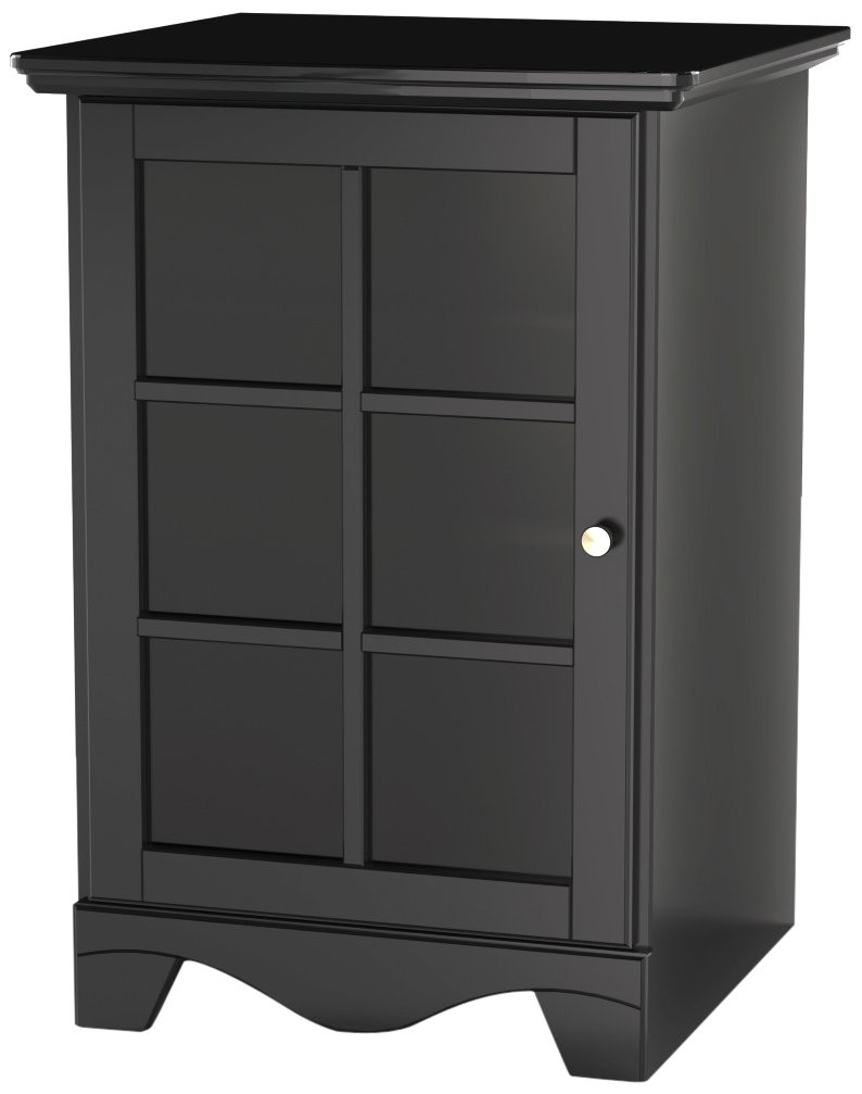 Pinnacle 1-Door Audio Tower 101506 from Nexera - Black