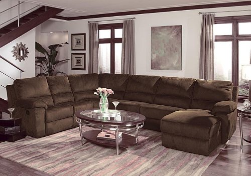 (Home Line Contemporary Design Reclining Sectional U707 )