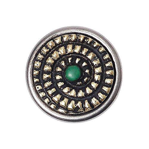 Noosa petite Chunk Mandala Nirvana brass green