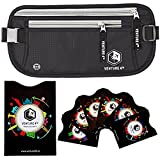 Travel Money Belt with RFID Sleeves - Keeps Your Cash Safe When Traveling - Hidden Waist Passport Holder With RFID Blocking Technology Is Designed For Superior Anti-Theft Protection and Comfort