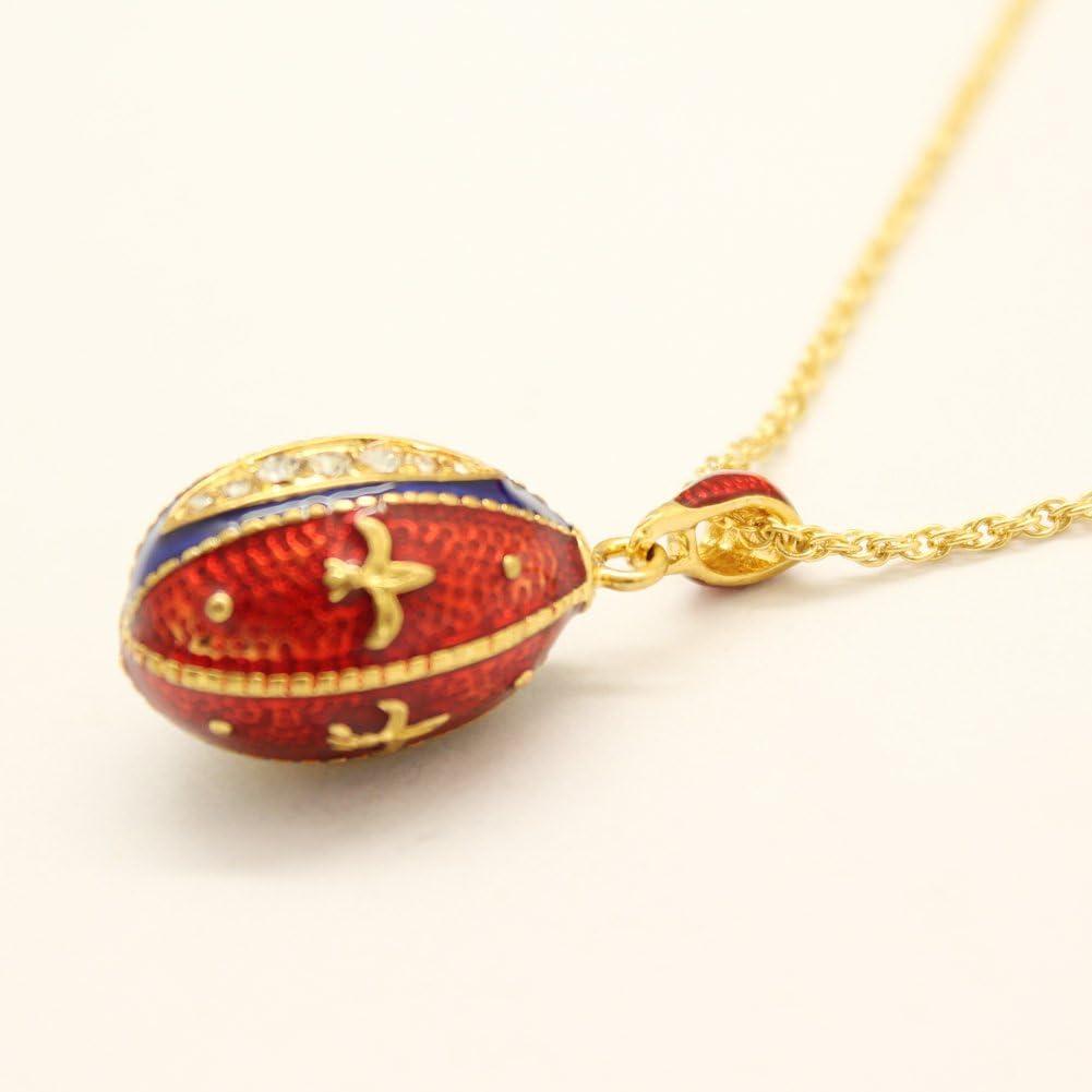 MYD Bijoux Couleur /émail Faberg/é /Œuf de P/âques Jour pendantes entretoises Perle europ/éenne Charms Bracelet pour femmes