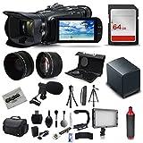 Canon VIXIA HF G40 Full HD Camcorder + Mic + Extra Battery + 64GB + Light + Case + Telephoto Lens + Filter Kit + XGrip + SD Reader + Professional Accessory Bundle Kit