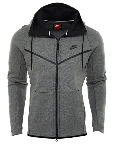 Nike TCH M Heather WR NSW FZ Black Hoodie Black Flc Men's Carbon rUrp4nq