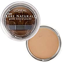 L'Oreal LOREAL Bare Naturale Gentle Mineral Powder Compact with Brush #418 BUFF BEIGE (Qty, Of 2) DISCONTINUED