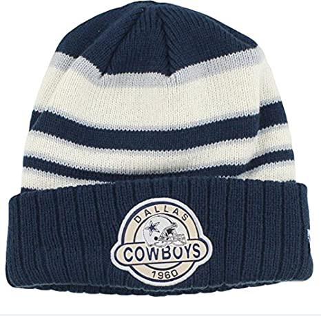 Amazon.com   New Era Dallas Cowboys Retro Striped Select Cuffed Knit ... 150a9774945