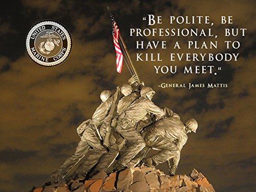 Usmc Motivation Poster General James Mattis